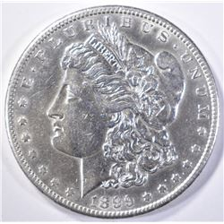 1899-S MORGAN DOLLAR  AU/BU