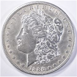 1886-S MORGAN DOLLAR  AU/BU