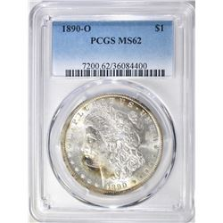 1890-O MORGAN DOLLAR PCGS MS62