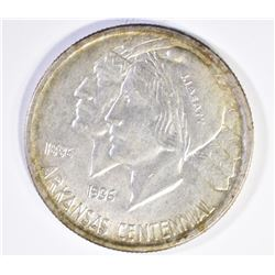 1937 ARKANSAS COMMEM  HALF DOLLAR, GEM BU