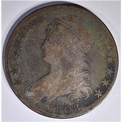 1808 BUST HALF DOLLAR  VG
