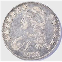 1825 BUST HALF DOLLAR  XF/AU