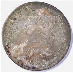 1824 BUST HALF DOLLAR  VF