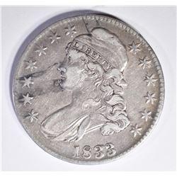 1833 BUST HALF DOLLAR, VF+