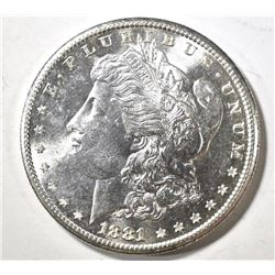 1881-S MORGAN DOLLAR, CH BU PL FLASHY