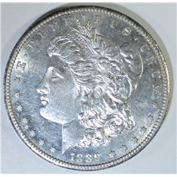 1889-S MORGAN DOLLAR, CH BU PROOF-LIKE