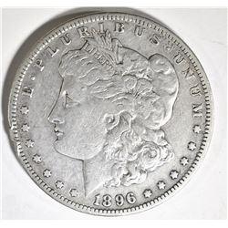 1896-S MORGAN DOLLAR, VF/XF