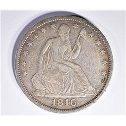 1846-O SEATED HALF DOLLAR, XF+