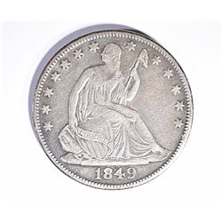 1849-O SEATED HALF DOLLAR, VF