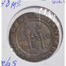 1544-48 SILVER 2REALES  MEXICO (CARLOS & JOHANNA)