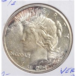 1924-S PEACE DOLLAR  VERY CH BU
