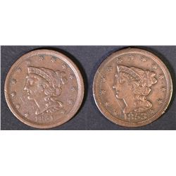 1851 VF/XF & 1853 VF HALF CENTS