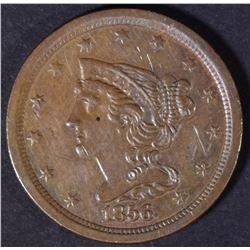 1856 HALF CENT  AU  SCRATCHED