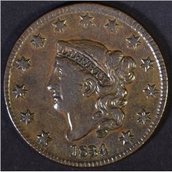 1834 LARGE CENT  XF  MARKS ON OBV.