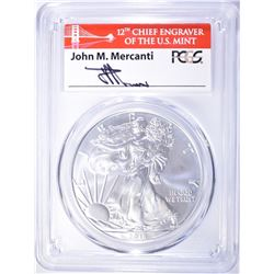 2018-W BURNISHED ASE PCGS SP-70 MERCANTI SIGNED