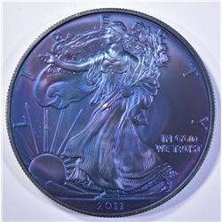 2011 AMERICAN SILVER EAGLE, MONSTER TONING!!