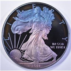 2011 PROOF AMERICAN SILVER EAGLE MONSTER TONING
