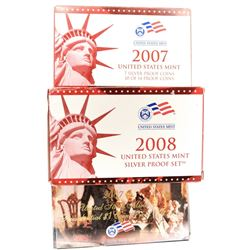 2007 & 2008 U.S. SILVER PROOF SETS