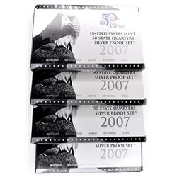 4-2007 SILVER U.S. STATE QUARTER PROOF SETS