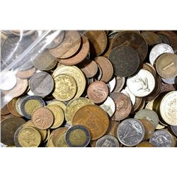 APPROXIMATELY 20 POUNDS WELL MIXE FOREIGN COINS