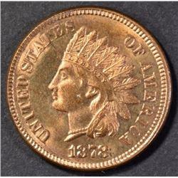 1878 INDIAN CENT GEM BU RED
