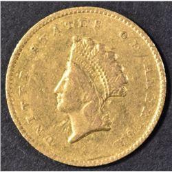 1855-O GOLD DOLLAR XF