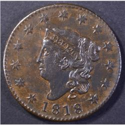 1818 LARGE CENT, CH BU RANDALL HOARD!
