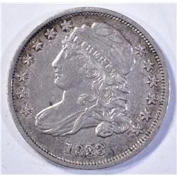 1833 BUST DIME, CH XF/AU