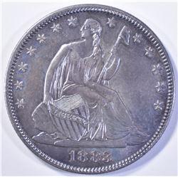 RARE!! 1883 SEATED HALF DOLLAR, CH BU
