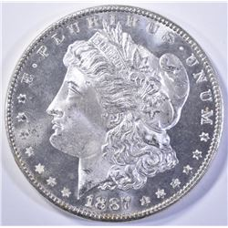 1887 MORGAN DOLLAR, GEM BU DMPL