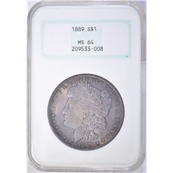 1889 MORGAN DOLLAR NGC MS 64