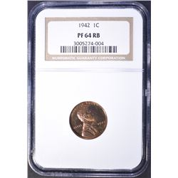 1942 LINCOLN PROOF NGC PF 64 RB