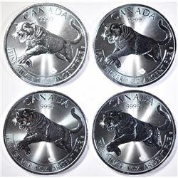 4-2016 CANADIAN 1oz .9999 SILVER COUGAR COINS