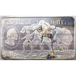 "TEN OUNCE .999 SILVER BAR ""BITH OF A NATION"""
