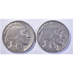 1930-S & 31-S XF BUFFALO NICKELS
