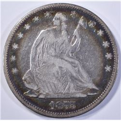 1875 SEATED HALF DOLLAR, FINE