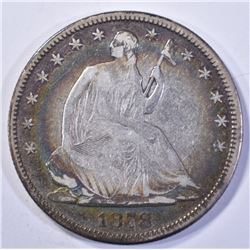 1878 SEATED HALF DOLLAR, VG/FINE BETTER DATE