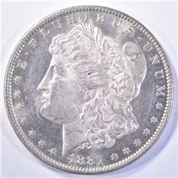 1881-O MORGAN DOLLAR, CH BU+ PROOF-LIKE