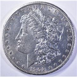 1902-S MORGAN DOLLAR, CH BU