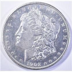 1902-O MORGAN DOLLAR, CH BU PL