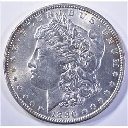 1896 MORGAN DOLLAR, GEM BU NICE!