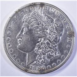 1886-O MORGAN DOLLAR, AU+