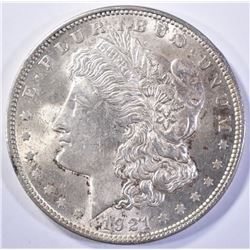 1921 MORGAN DOLLAR, GEM BU