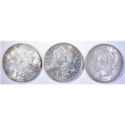 1885, 86 & 98 CH BU MORGAN DOLLARS