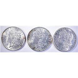 1881-O & 2-1896 CH BU MORGAN DOLLARS