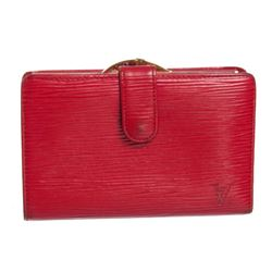 Louis Vuitton Red Epi Leather French Purse Wallet
