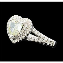 1.76 ctw Diamond Ring - 14KT White Gold