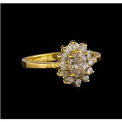 0.95 ctw Diamond Ring - 14KT Yellow Gold