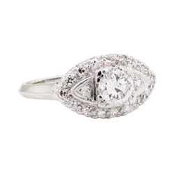 0.66 ctw Diamond Ring - Platinum