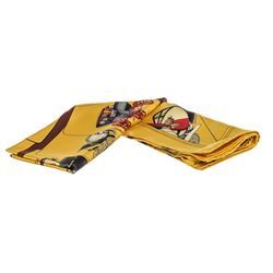 Hermes Yellow Multicolor Carrosserie Silk Scarf